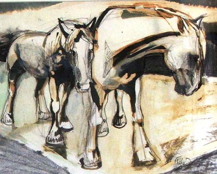 working-horses-study